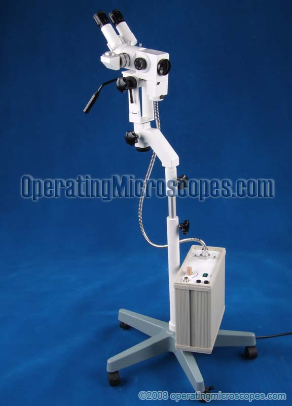 Our gynecology microscopes are mounted on floor stands with wheels for easy